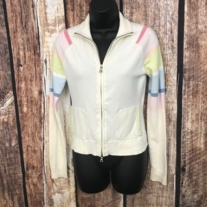 Vintage Guess Zip Front Sweater PS